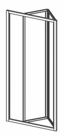 Produktbild: Duschfalttüre  Kunstglas Breite 70 cm x Höhe1850 cm Profile weiss
